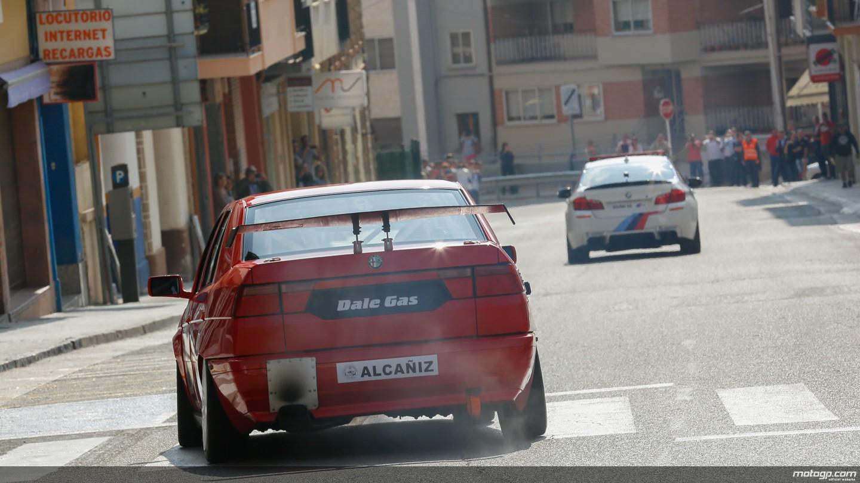 Circuito Alcañiz : Jorge lorenzo conduce en el antiguo circuito urbano de alcañiz